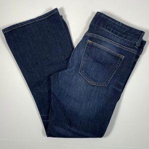 Gap 1969 Jeans Dark Wash Perfect Boot Distressed